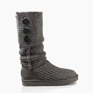 UGG CLASSIC CARDY BOOT/ WOOL SWEATER BOOTS 6